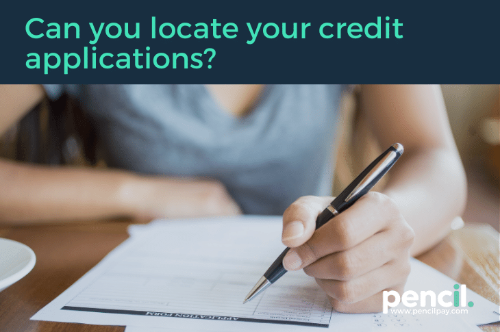 Can you locate your credit application blog image.